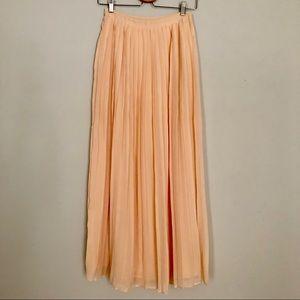Pink Accordion Sheer Skirt